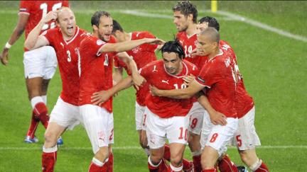 Šveicarija po pirmo įvarčio prieš Turkiją